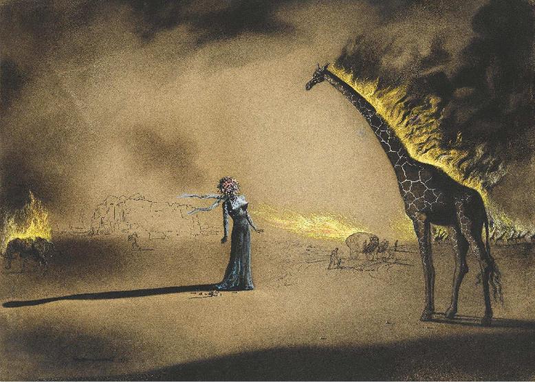 Girafe En Feu Salvador Dalí