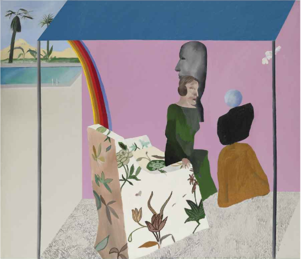 Californian Art Dealer by David Hockney sold to the fashion designer Valentino for $5,458,500