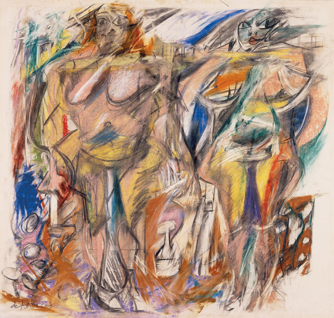 Two Women with Still Life (1952) Willem de Kooning
