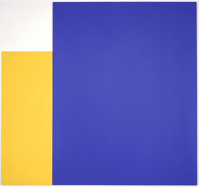 Two Panels: Yellow with Large Blue (1970) Ellsworth Kelly
