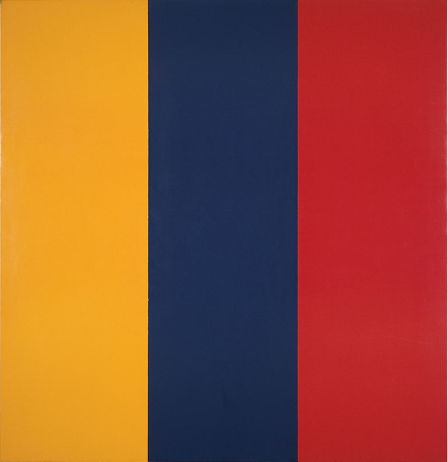 Red, Yellow, Blue Painting (1974) Brice Marden