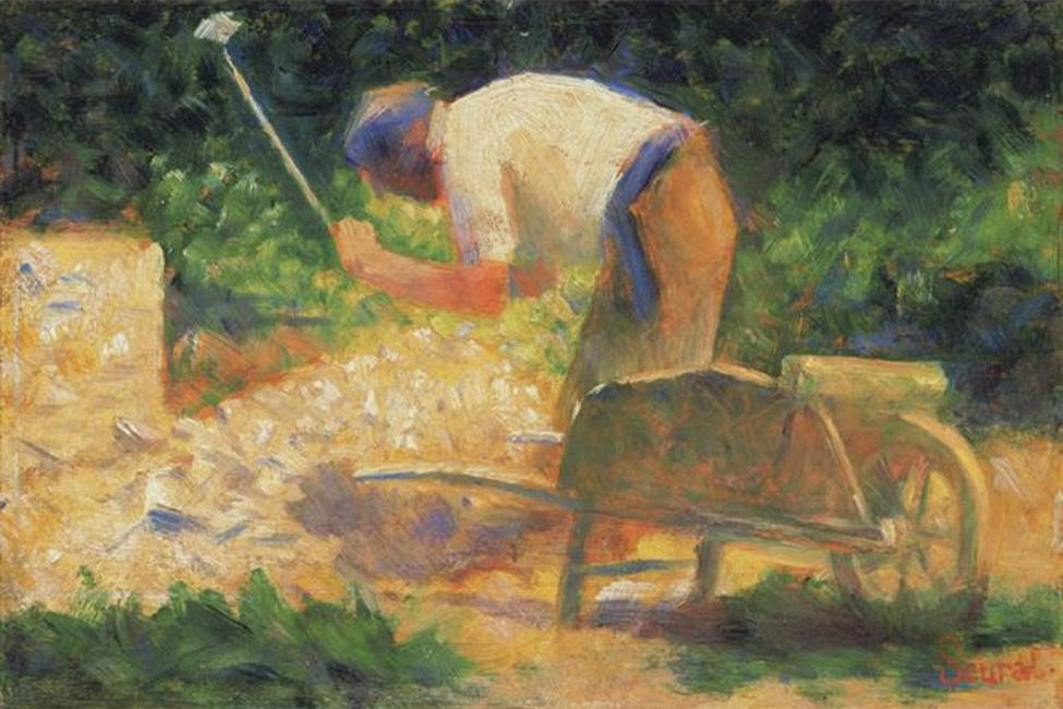 Seurat, 1882, The Gardener, Via Art Knowledge News
