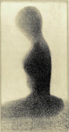 Seurat, 1884, Young Woman, Via Kroller-Muller Museum