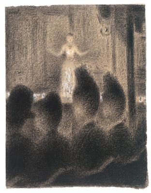 Seurat, At the Concert Europeen, 1886, Via Kunsthaus Zurich