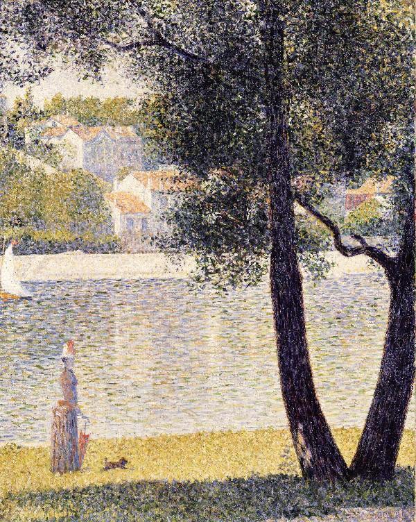 Seurat, La Seine A Courbevoie, 1885, Via ArtWohoo