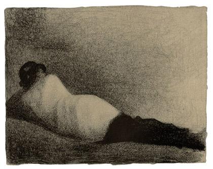 Seurat, Reclining Man, 1883, Via Kunsthaus