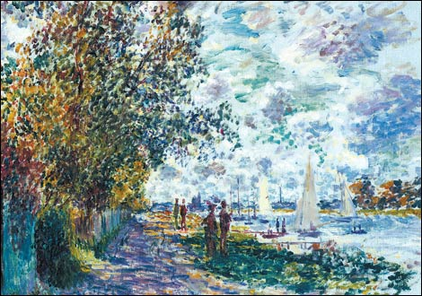 Claude Monet-The Bank at Petit Gennevilliers'-1875