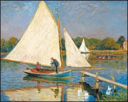 Claude Monet-Sailing Boat Argenteuil-1873