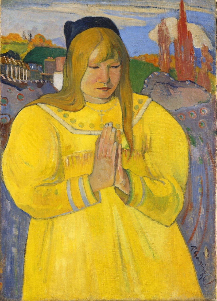 "Gauguin, ""Young Christian Girl"" 1894 Via Cleveland Museum"