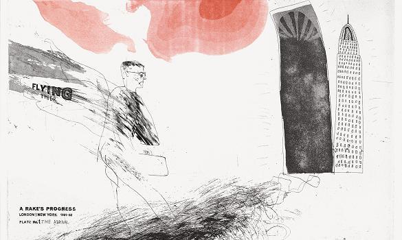 "Hockney, ""The Arrival..."" (1961-63) Via TimesOnline"