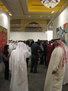visitors at Art Abu Dhabi