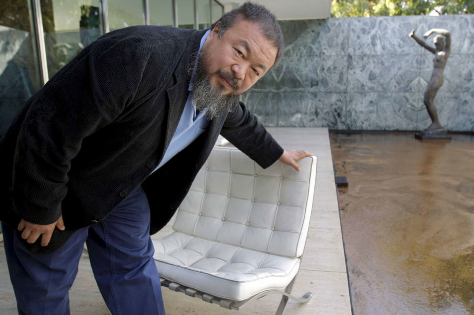 Ai Weiwei With Milk Find Something Everybody Can Use Mies Van der Rohe Pavilion