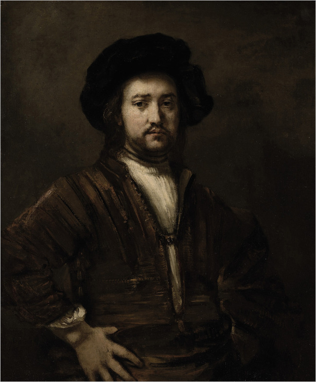Rembrandt Harmenszoon van Rijn - Portrait of a Man, Half-Length, With His Arms Akimbo