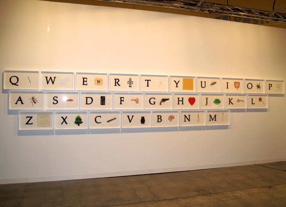 John Baldessari Alphabet Art Basel Miami Beach 2009