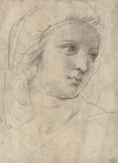 Raphael Head of a Muse Christie's Old Masters