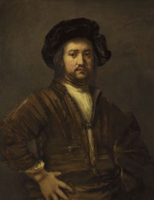 Portrait of a man with arms akimbo, Rembrandt