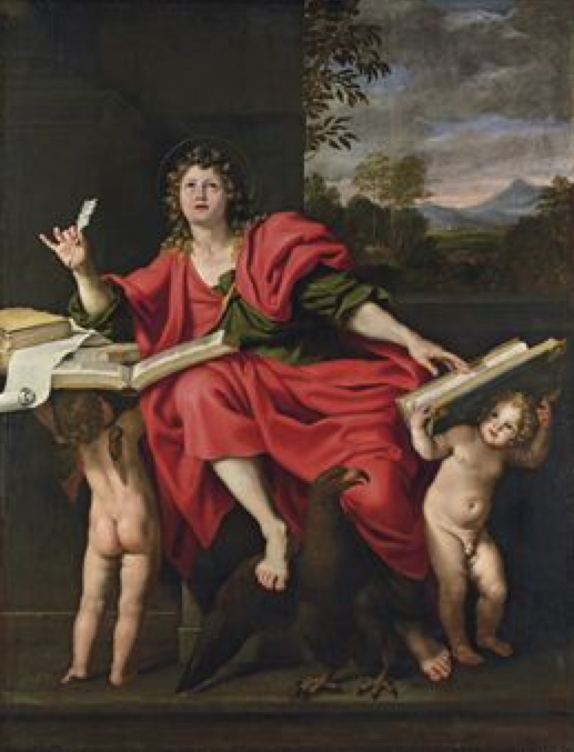 Saint John the Evangelist, Domenico Zampieri, Il Domenichino