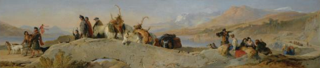 Return from the Staghunt, Sir Edwin Henry Landseer, R.A.