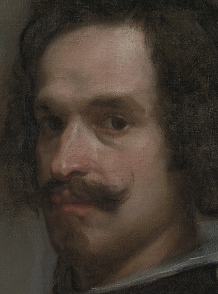 Velazquez, Detial of Face and Hair, Via the Met
