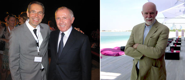 Jeff Koons and collector François Pinault and Guggenheim Director Richard Armstrong