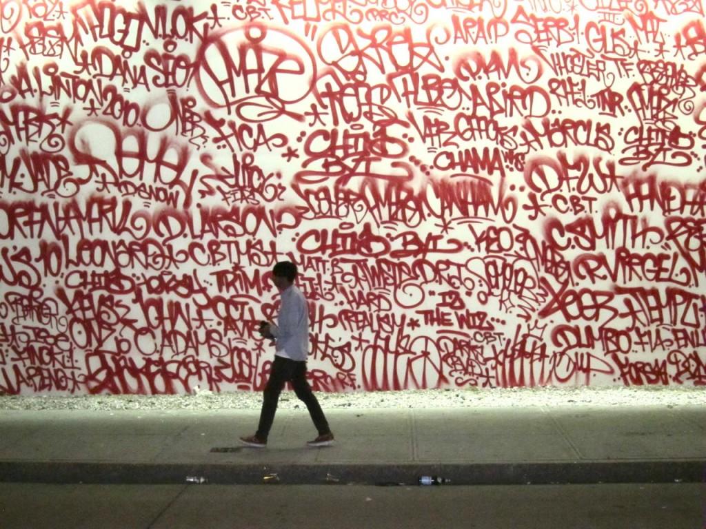 Grafiti wall red - All