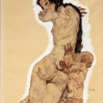 Egon Schiele, Woman with Homunculus, 1910