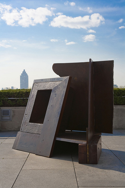 Anthony Caro on top of the Met, via Art Observed