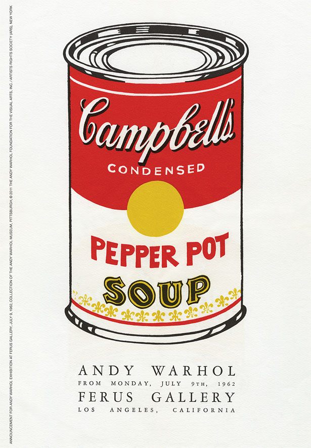 Go See Los Angeles Andy Warhols Campbells Soup Cans at the