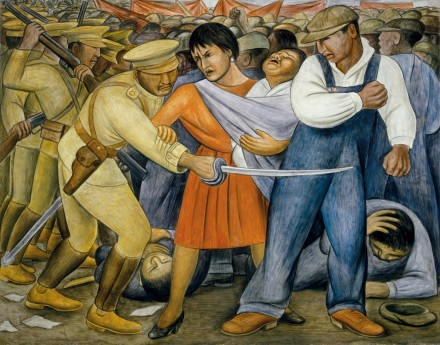 Diego Rivera, The Uprising (1931), MoMA