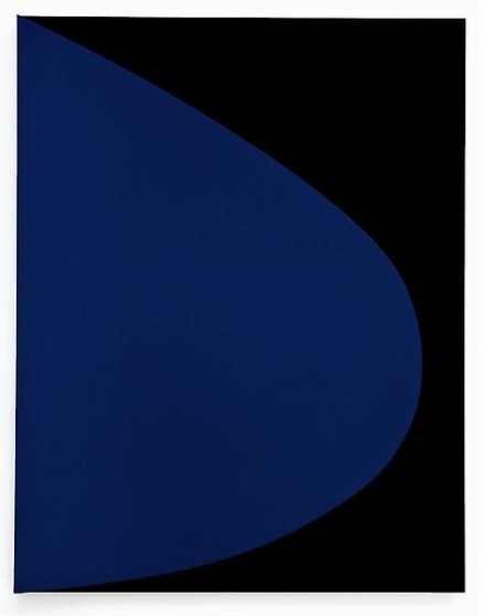 Ellsworth Kelly, Blue Relief with Black (2011)
