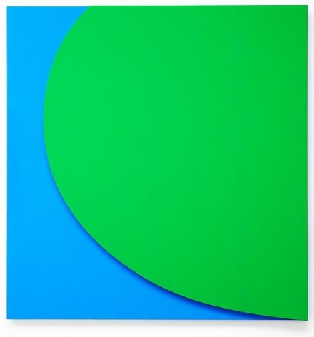 Ellsworth Kelly, Green Relief with Blue (2011)