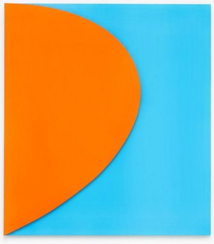 Ellsworth Kelly, Orange Relief with Blue (2011). All Images via Matthew Marks
