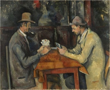 Paul Cezanne, Card Players, Metropolitan Museum of Art, via New York Times