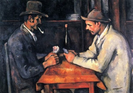 Paul Cezanne, Card Players, Qatar, via Vanity Fair