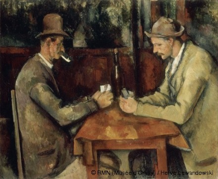 Paul Cezanne, Card Players, via Musee d'Orsay