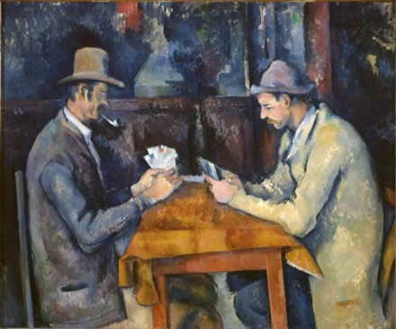 Paul Cezanne, Card Players, via The Courtauld