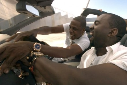 Jay Z and Kanye in the Maybach 57 via Phillips de Pury