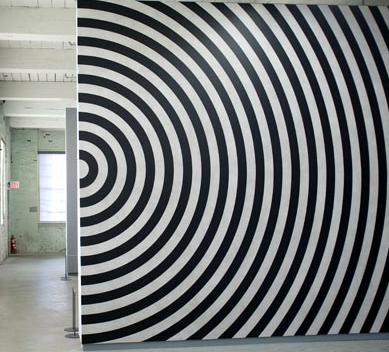 Sol Lewitt Wall Drawing at MASS MoCA via NY Times