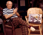 Pablo Picasso with Painting 6:28:12