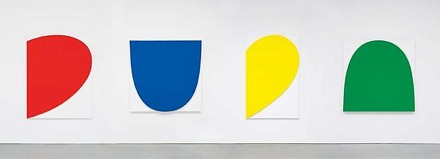 Ellsworth Kelly, Curves on White (Four Panels), 2012