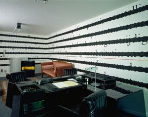 Joseph Kosuth Chambres d'Amis 1986 via S.M.A.K.