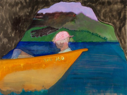 "Peter Doig, ""Cave Boat Bird Painting"""