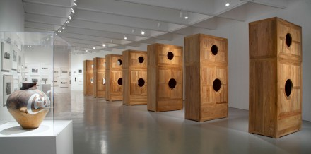 Ai Weiwei at Hirshhorn, Installation View: Coca Cola Vase, New York Photographs, Moon Chest