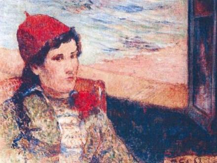 Gauguin Girl in Front of Open Window 1898 via AP