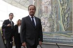 France's President Francois Hollande visits the new Department of Islamic Arts galleries at the Louvre museum in Paris