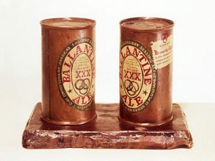 Jasper Johns, Ballantine Ale Cans, 1960 via Artinfo