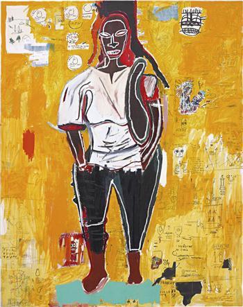Jean Michel Basquiat Big Joy via Phillips