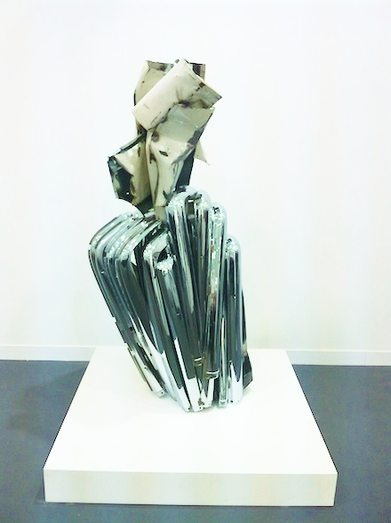 Image: John Chamberlain at Gagosian via Art Observed
