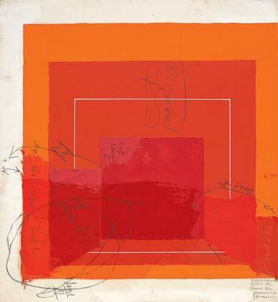 Josef Albers, Color Study for White Line Square, via The Morgan Library