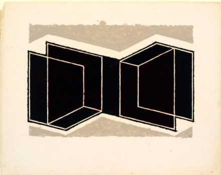 Josef Albers, Study for a Kinetic, ca. 1945 Courtesy The Morgan Library & Museum